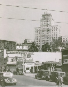 El Cortez from Downtown 001 With Gas Station-sm